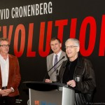 David Cronenberg with TIFF's CEO and director Piers Handling and Lightbox's Artistic Director Noah Cowan